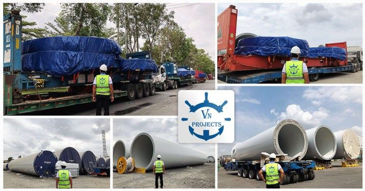 VN Projects Trucked Wind Tower Flanges Inland