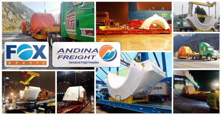 Joint Project - FOX Brasil and Andina Freight Peru Delivered 2 Stators for a Hydroelectric Project