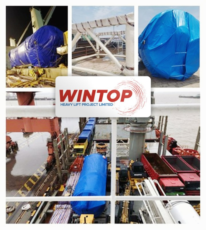 Wintop Heavy Lift Shipped Spent Grain Silo Equipment from Shanghai to Mombasa