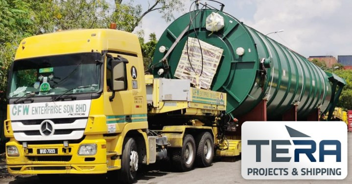 Tera Projects Trucked Project Cargo Over 100km Using their Own Bridge Telescopic Low Loader for Overall Transport Height of 5,62m