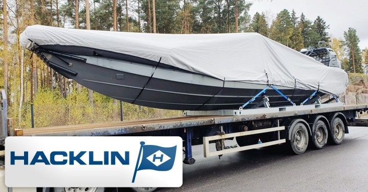Hacklin Logistics Transported a New Finnish Designed Boat for Export