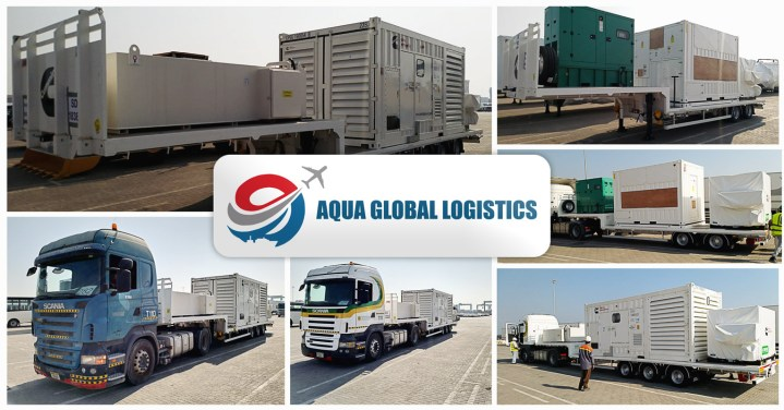 Aqua Global Logistics Performed Discharge and Delivery of Trailer Mounted Generators for a Fortune 500 Company's Data Centre in Bahrain