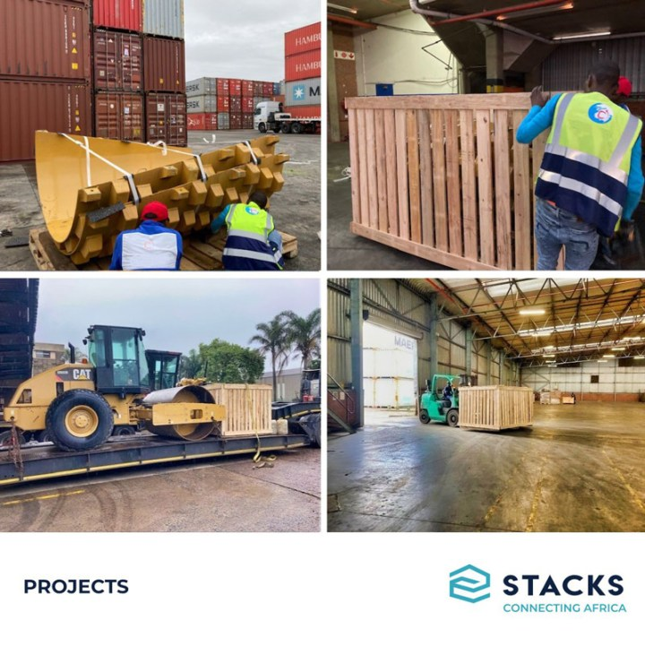 STACKS South Africa Crating and Shipping Caterpillar Parts and Equipment for a Mine in Burkina Faso