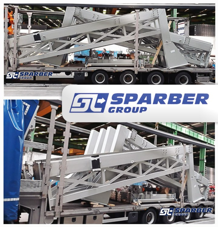 Sparber Group Transported Oversized Cargo on an Extendable Semi-closed Trailer from Spain to Germany