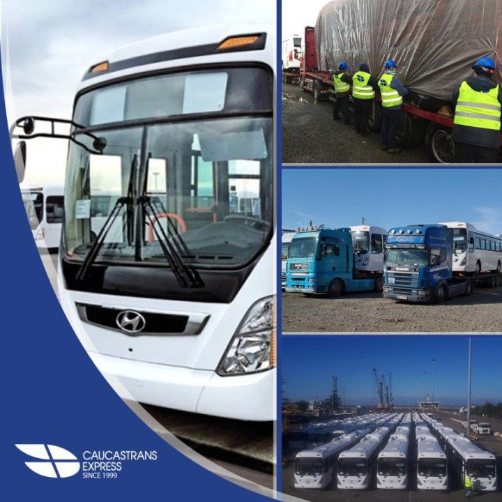 Caucastransexpress Handled a Multimodal Delivery of Hyundai Buses from Korea to Turkmenistan via Georgia