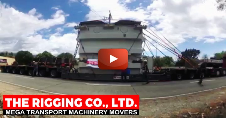 Video - The Rigging Co Performed the Trucking and Spotting of a Transformer in Beautiful Rural Philippines