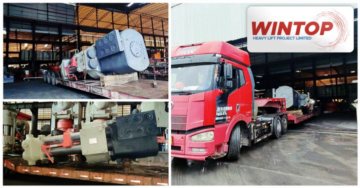 Wintop Heavylift Shipped 2 x 95mt Breakbulk Peices from Shanghai to India