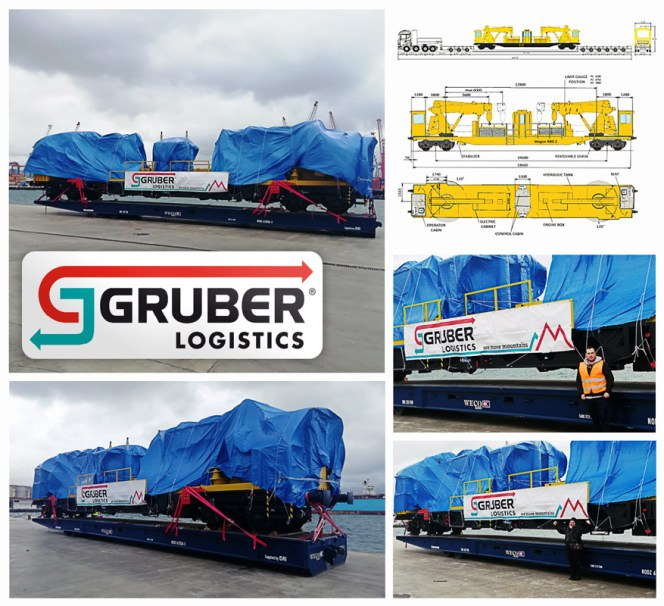Gruber Logistics Managing Every Step of the Transport of 92mt Rail Equipment from Italy to Egypt