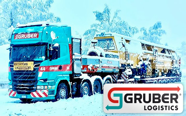 Gruber Logistics Handled a 120mt Locomotive from Berlin to Italy in Extreme Weather Conditions