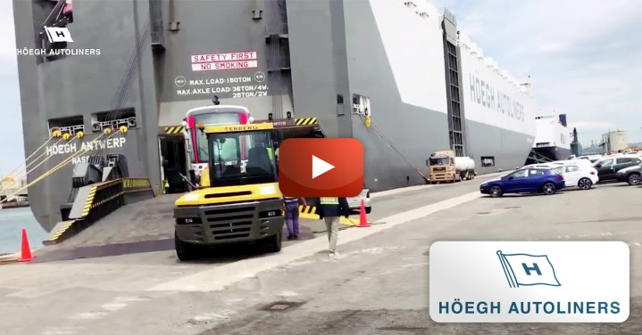 Höegh Autoliners Transported Trams for the Mauritius Metro Express Light Rail Line