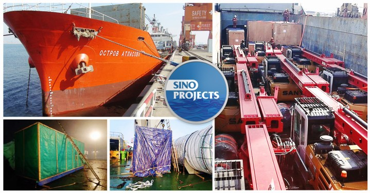Sino Projects Loaded Breakbulk Cargo at both Lianyungang and Tianjin ports for Vladivostok Russia
