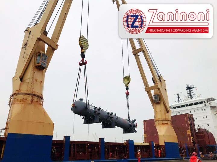 Zaninoni Loaded an 83mt Waste Heat Exchanger in Marghera Italy Destined for Egypt