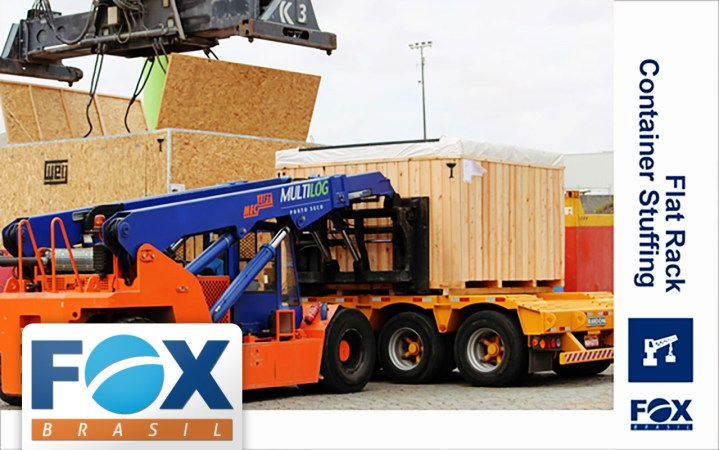 Fox Brasil is Experience in Flat Rack Container Stuffing (among other project handling operations)