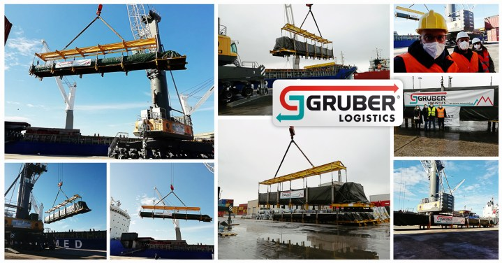 Gruber Logistics Transported 20 Modules, Totaling 1800 tons and 4000 cbm from Apulia Italy to Saxony Germany