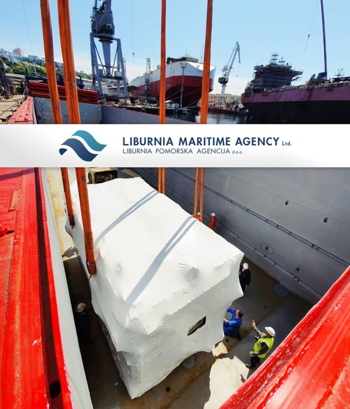 Liburnia Loading 3x128mt transformers + accessories under our full vessel charter for 3 different UK ports