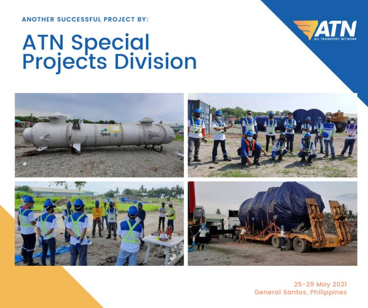 ATN performed grounding and unloading of 55 TEU's, 1544 CBM, 175 MT of capital equipment in General Santos