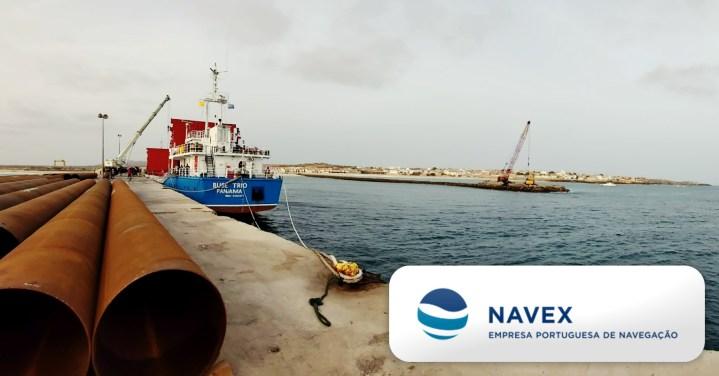 Navex - Empresa Portuguesa de Navegação Handled the Discharge of Pipes at Porto Inglês - Maio Island, Cape Verde