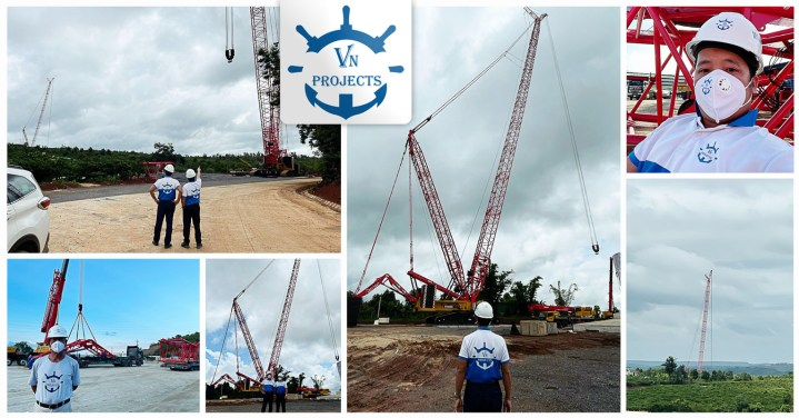 VN Projects Deployed a Boom Crane to Install 8 x 800mt and 3 x 1250mt Wind Turbine Parts
