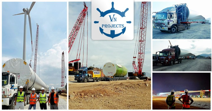 VN Projects Handled Logistics Parts of 25 Sets WTGs