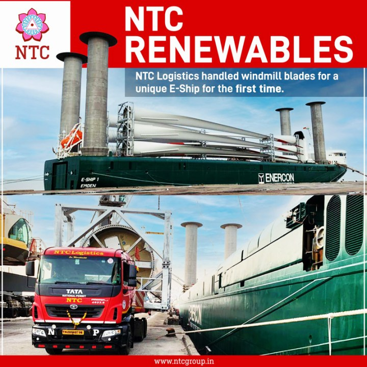 Deendayal Port in Kandla Handled a Unique E-Ship for the First Time with 15 blade handled by NTC Logistics