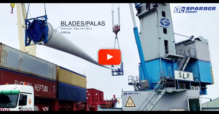 Video - Sparber Group Shipped Wind Turbine Cargo from Bremen to Bilbao
