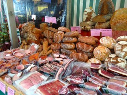 breads and various prosciutto