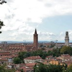 view on the way to the Belvedere, Giardino Giusti // Verona