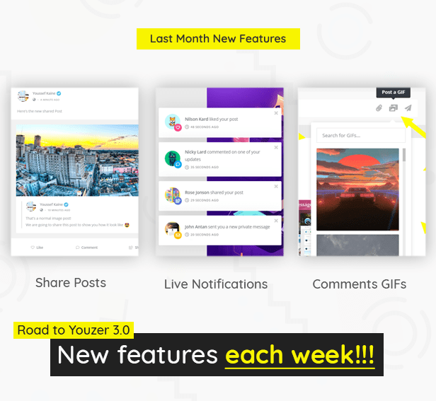 Last Month New Features