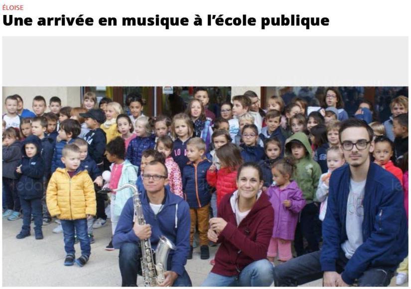 Les musiciens de la CdU à la rentrée des classes d' Eloise