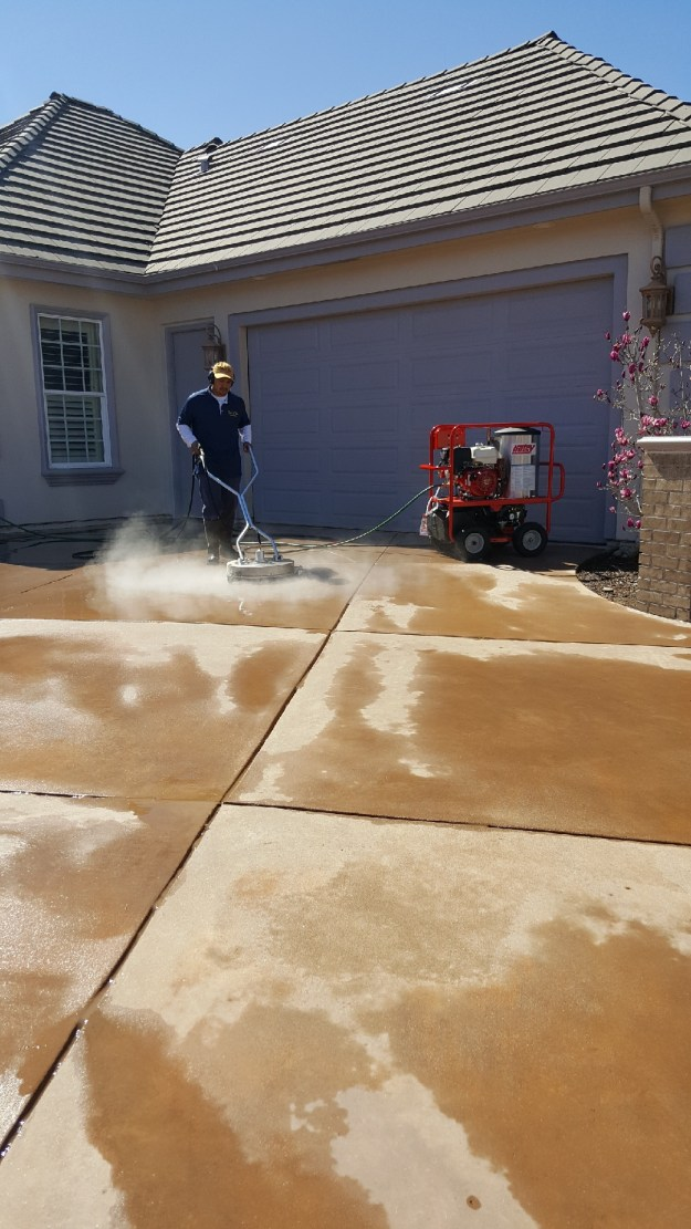 Pressure wash driveways