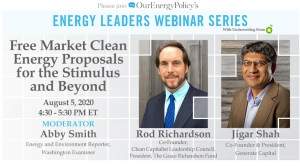 jigar shah webinar aug 5 at 4:30 on our energy policy dot org with rod richardson register now