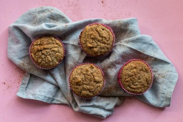Vegane Low Carb Apfel Zimt Muffins