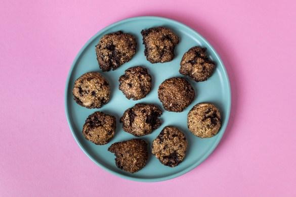 Amaranth-Mandel Kekse mit Schokolade