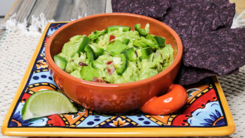 guacamole with tomatoes