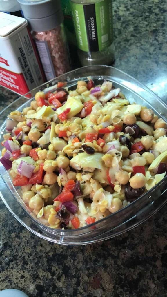 Greek Chickpea Artichoke Salad