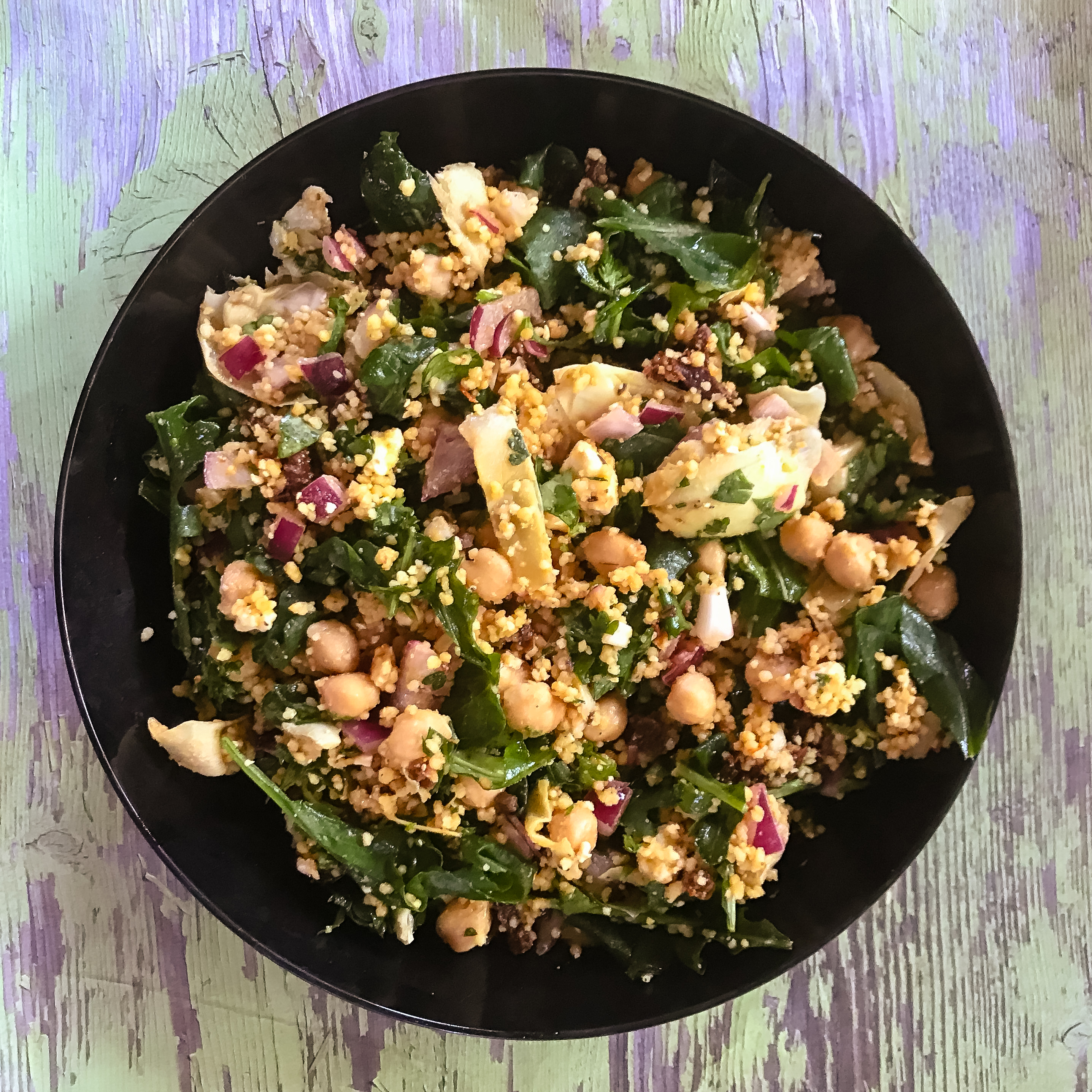 Couscous Sun-Dried Tomato Salad with Chickpeas and Feta