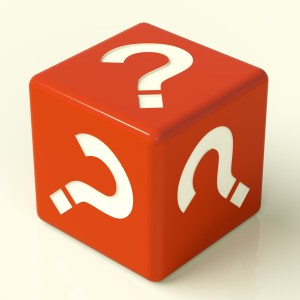 Question Mark Dice As Symbol For Information