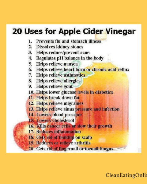 20 uses of apple cider vinegar
