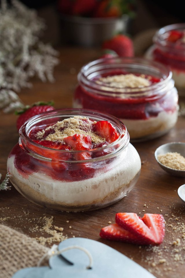 Strawberry Cheesecake Jars 3