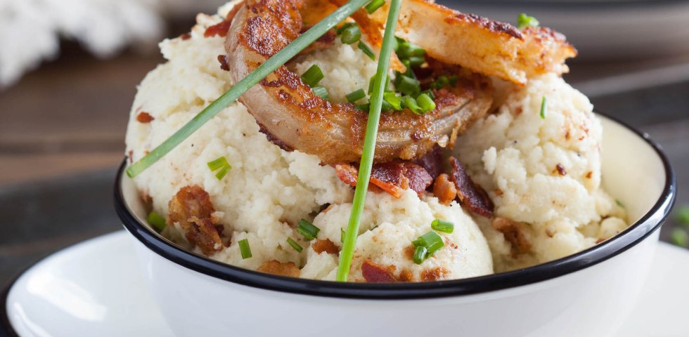 Loaded Mashed Cauliflower