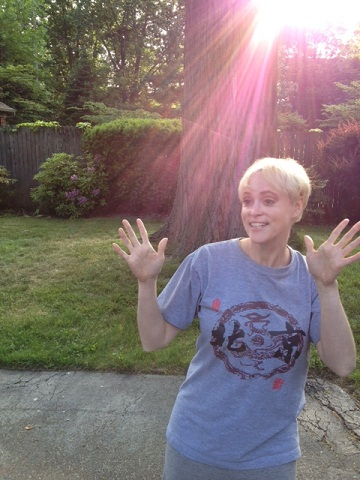 Very soon, I will be back to this....Happy Meg = Jazz Hands and Sunlight beaming down on me.