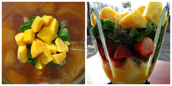 Saturday Morning Smoothie Collage