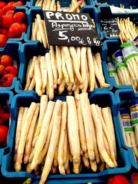 Belgium Farmers Market Asparagus