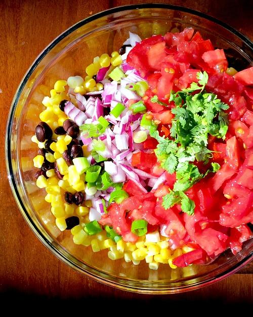 Black Bean Corn and Tomato Salad