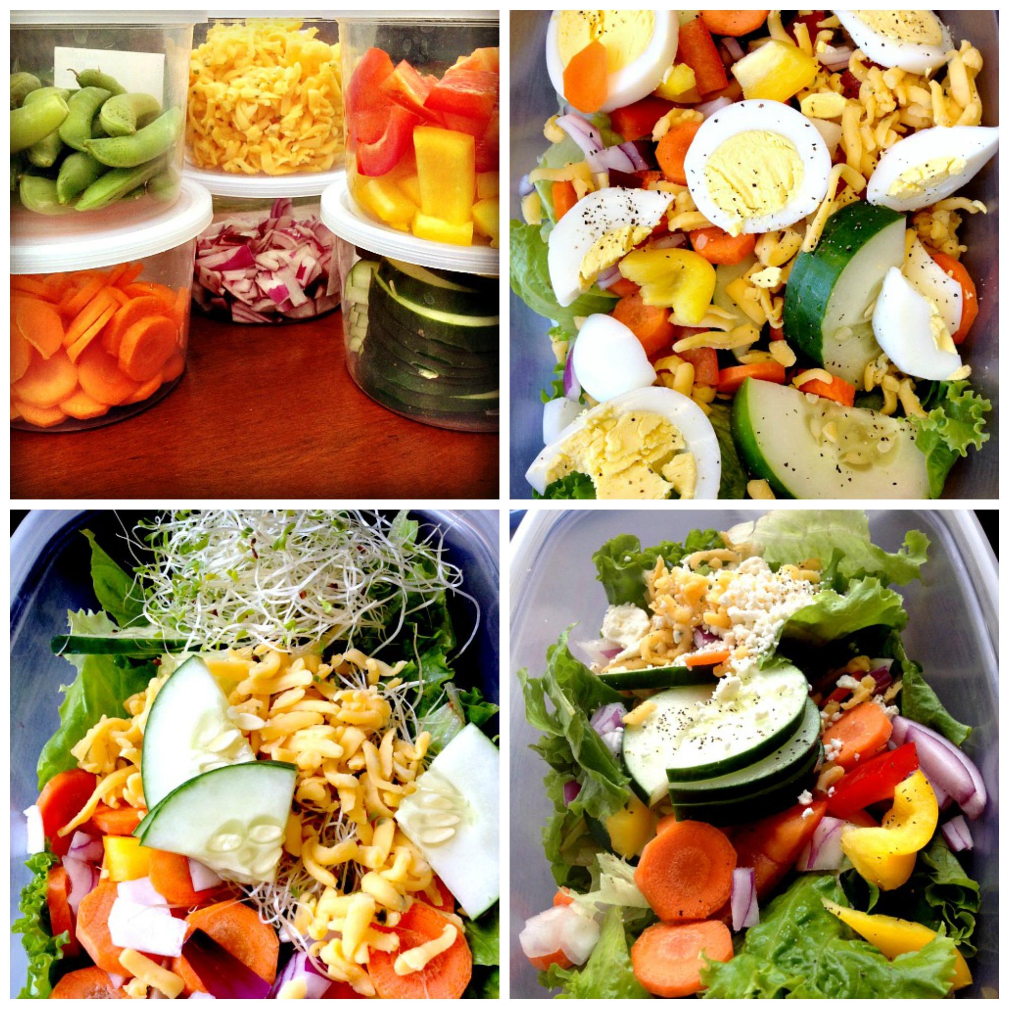 Summer 2013 CSA Week Three Salad Collage