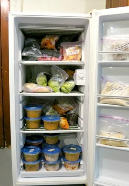 Basement Standing Deep Freezer Inside