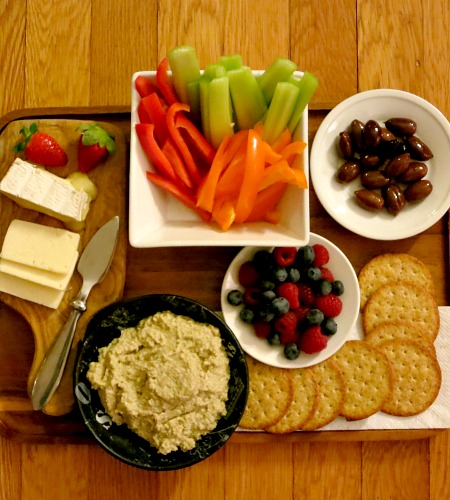 Dimly Lit Snack Platter