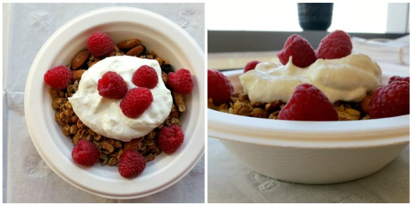 Granola, Yogurt & Berries Collage