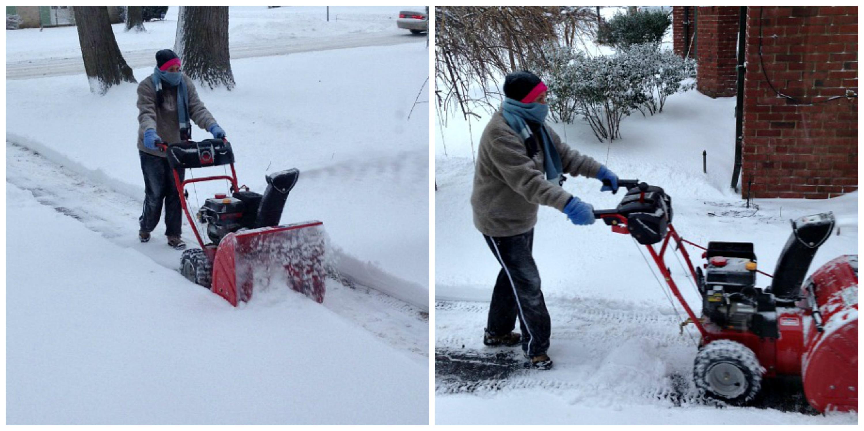 Meg Snow Blowing Collage B