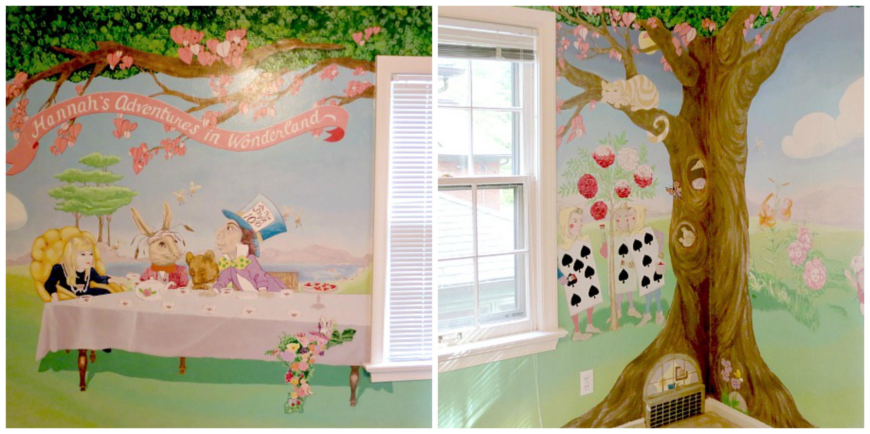 Alice In Wonderland Mural Collage